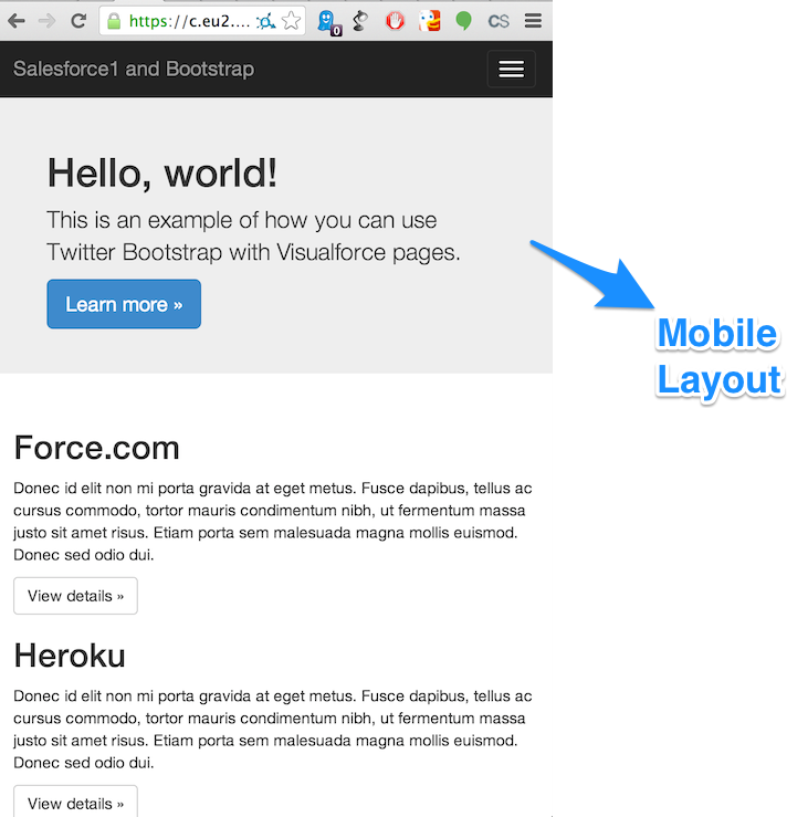 Bootstrap Example Mobile